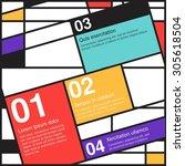 infographics elements options... | Shutterstock .eps vector #305618504