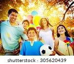 family parents children... | Shutterstock . vector #305620439