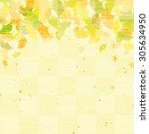 ginkgo autumn background... | Shutterstock . vector #305634950