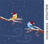 template of christmas card for... | Shutterstock .eps vector #305637848