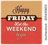 retro typographic poster design ... | Shutterstock .eps vector #305650853