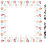 floral frame vector | Shutterstock .eps vector #305652356