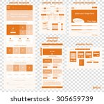 responsive web elements for... | Shutterstock .eps vector #305659739