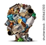 recycling ideas and...   Shutterstock . vector #305661503
