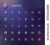 jewelry line icons set. vector... | Shutterstock .eps vector #305666888