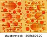 entrancing   delicate  unique ... | Shutterstock . vector #305680820
