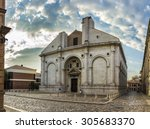 the tempio malatestiano ... | Shutterstock . vector #305683370