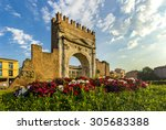 arch of augustus in rimini ... | Shutterstock . vector #305683388