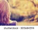 woman looking away  summer... | Shutterstock . vector #305684594