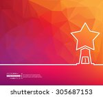 abstract creative concept... | Shutterstock .eps vector #305687153