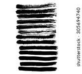 vector hand painted ink... | Shutterstock .eps vector #305694740