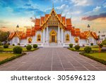 the marble temple  wat... | Shutterstock . vector #305696123
