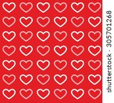 Pattern Of Hearts With Red...