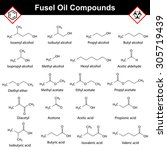 organic compounds of fusel oil  ...   Shutterstock .eps vector #305719439