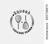 squash badges logos and labels... | Shutterstock .eps vector #305728874
