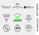 Squash Badges Logos And Labels...