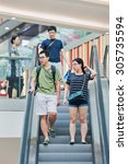 beijing aug. 2  2015. shoppers... | Shutterstock . vector #305735594