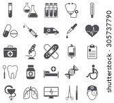 medicine icons | Shutterstock .eps vector #305737790