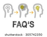 faqs   frequently asked... | Shutterstock . vector #305742350