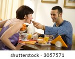 healthy living  young couple... | Shutterstock . vector #3057571
