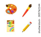 Artistic Paints And Pencils....