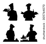 chief cook silhouette set | Shutterstock .eps vector #305764070