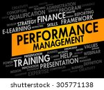 performance management word... | Shutterstock .eps vector #305771138