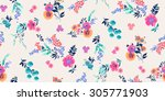 seamless floral pattern | Shutterstock .eps vector #305771903