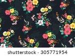 seamless floral pattern | Shutterstock . vector #305771954