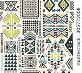 tribal ethnic pattern... | Shutterstock .eps vector #305772008