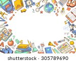 welcome back to school card.... | Shutterstock .eps vector #305789690