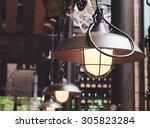 vintage lighting lamp decor... | Shutterstock . vector #305823284