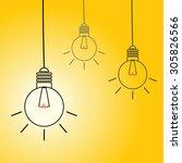 idea light bulb vector on...   Shutterstock .eps vector #305826566