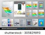abstract geometric brochure... | Shutterstock .eps vector #305829893