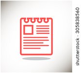 note on paper web icon. vector... | Shutterstock .eps vector #305838560