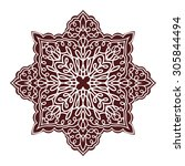hand drawing mandala element ... | Shutterstock .eps vector #305844494