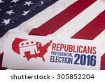 republican election on textured ... | Shutterstock . vector #305852204