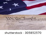 american constitution with us... | Shutterstock . vector #305852570