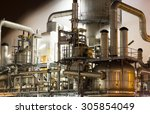 close up of industrial... | Shutterstock . vector #305854049