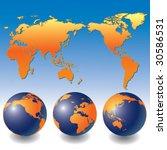globe map   Shutterstock .eps vector #30586531