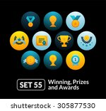 flat icons set 55   winning ...