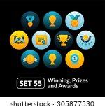 flat icons set 55   winning ...