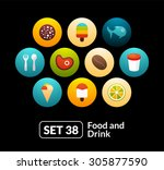 flat icons set 38   food and...