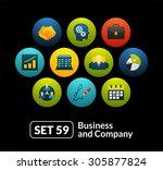 flat icons set 59   business...