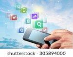 internet. | Shutterstock . vector #305894000
