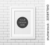 realistic white frame a4 on the ... | Shutterstock .eps vector #305897840