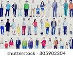 diversity ethnicity variation... | Shutterstock . vector #305902304