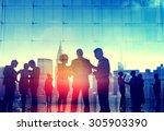 business people corporate... | Shutterstock . vector #305903390