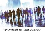 group business people walking... | Shutterstock . vector #305905700