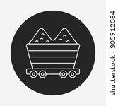 barrow line icon | Shutterstock .eps vector #305912084